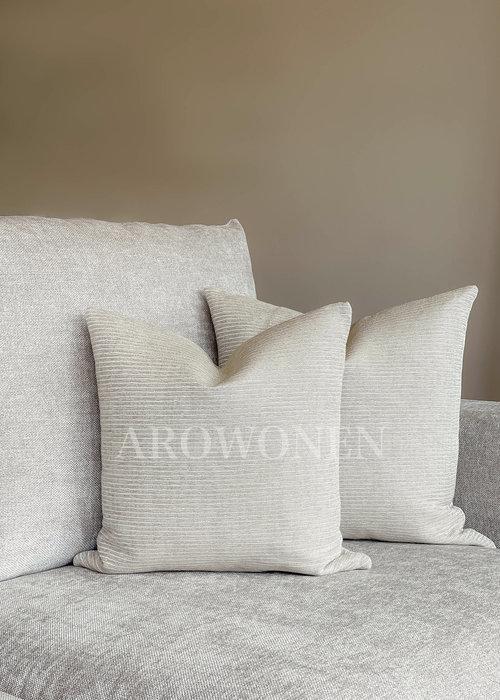 AROWONEN Decorative Cushion - Gianna - white gold