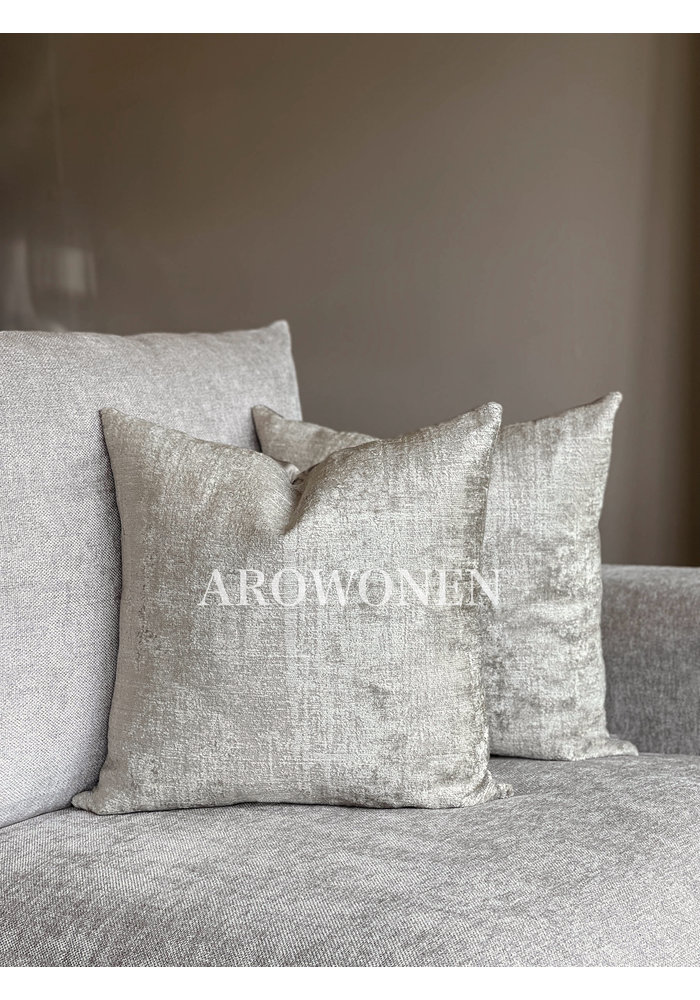 Decorative Cushion - Stones - Champagne