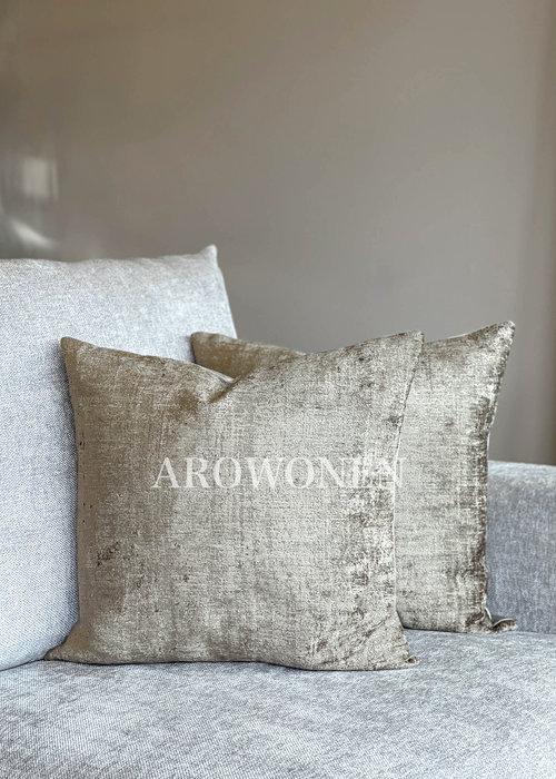 AROWONEN Decorative Cushion - Stones - Warm Taupe