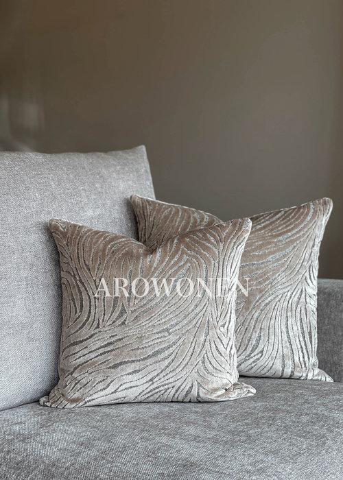 AROWONEN Decorative Cushion - Chintz - Sand