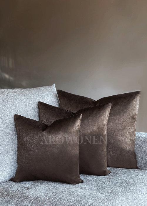 AROWONEN Decorative Cushion - Pandora - Choco