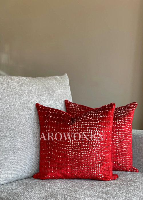Decorative Cushion - Cordelia - Red