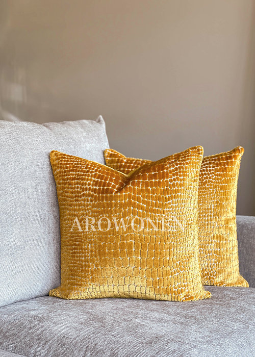 Decorative Cushion - Cordelia - Ochre