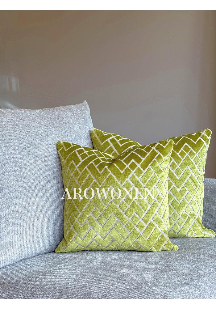 Decorative Cushion - Checkerd - Lime Twist