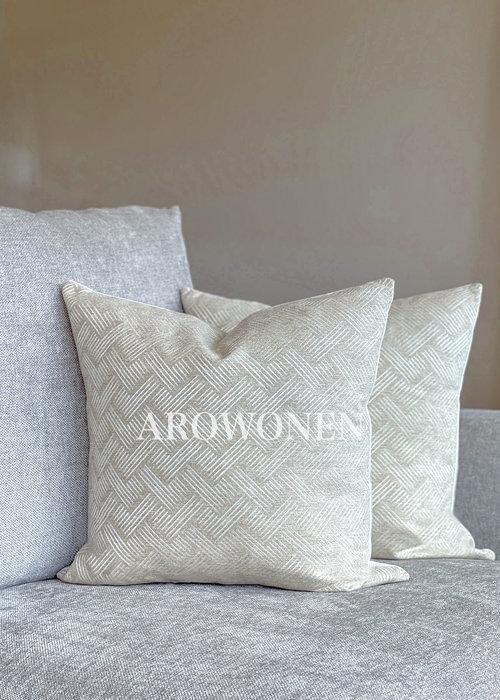 AROWONEN Decorative Cushion - Porter - Light Sand
