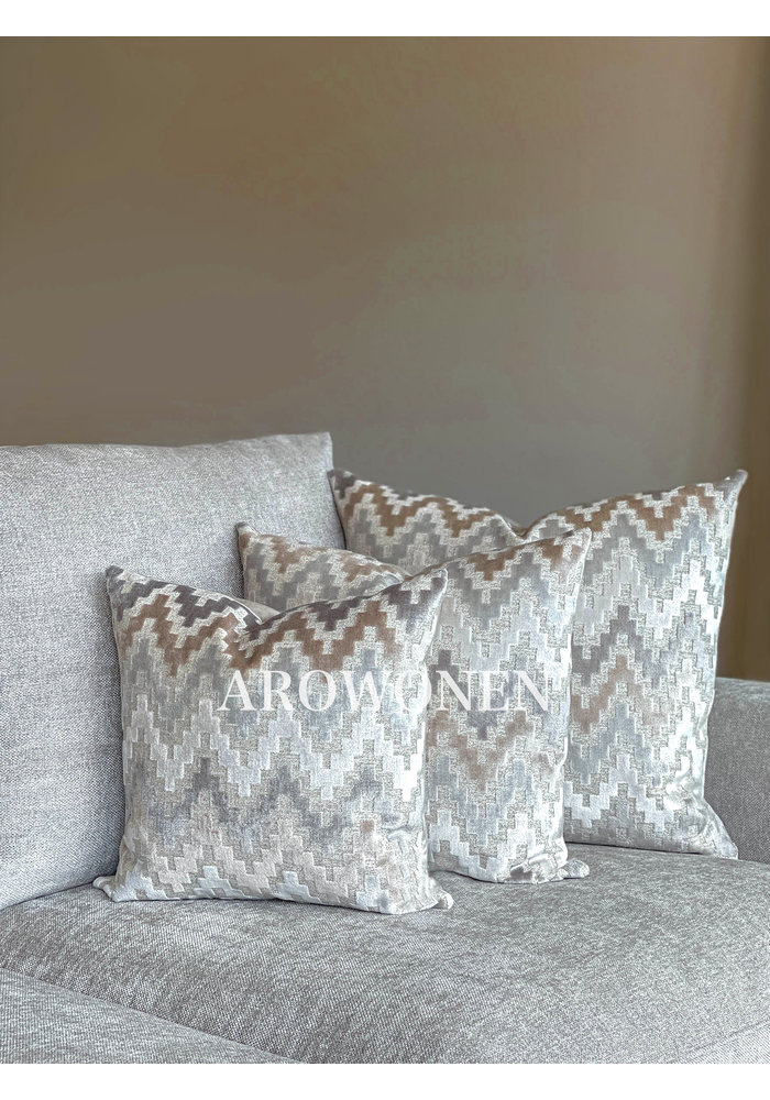Decorative Cushion - Pyramid - Beige Sand