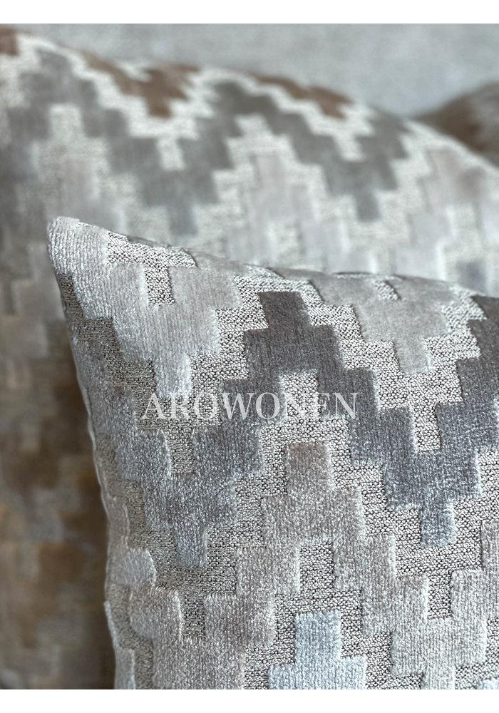 Decorative Cushion - Pyramid - Pearl