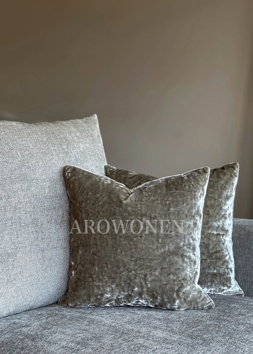Decorative Cushion - Crushed Velvet - Silver