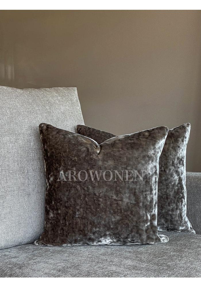 Decorative Cushion - Crushed Velvet - Grey