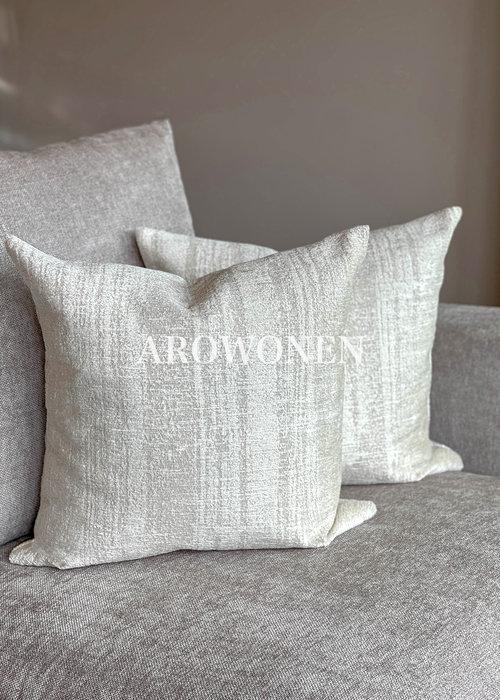 AROWONEN Decorative Cushion - Kaylani - White