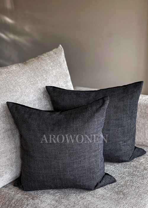 AROWONEN Decorative Cushion - Lin - Antraciet
