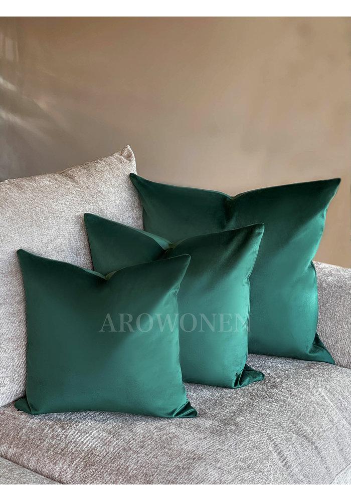 Decorative Cushion - Velvetta - Rolex Green