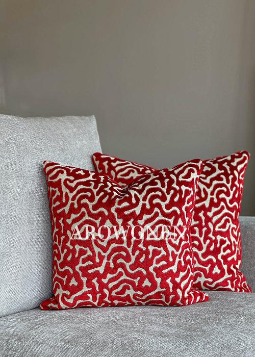 AROWONEN Decorative Cushion - Hippolyra - Red