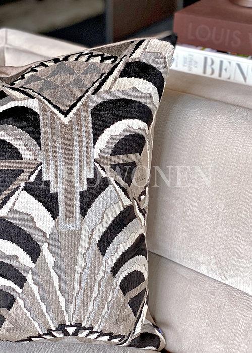 Coussin décoratif- Gatsby Black White