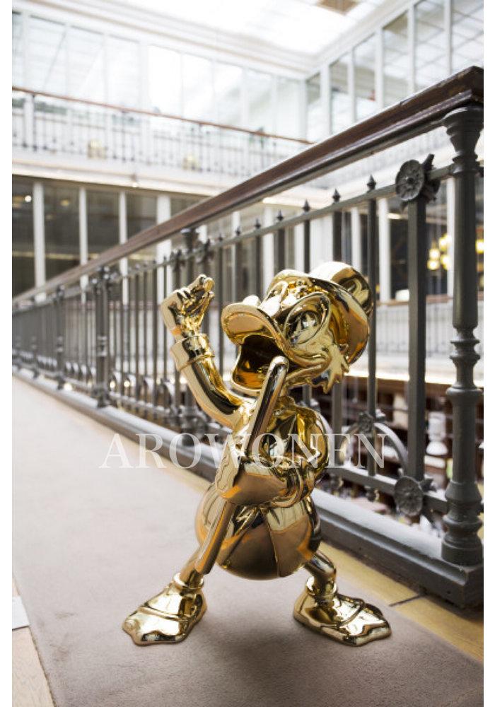 Levensgroot - Dagobert - Verchroomd Goud