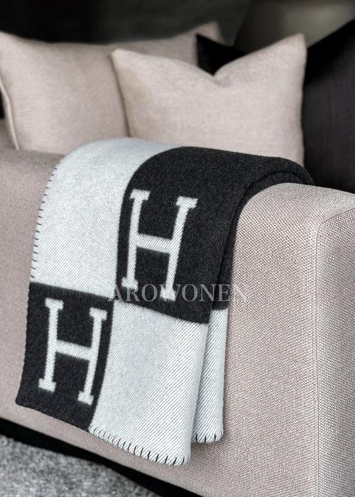 Hermés Plaid -  Black / Grey