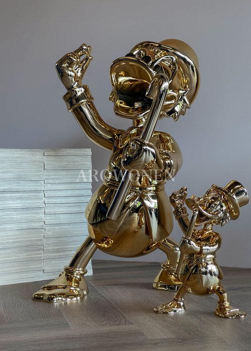 Disney Levensgroot - Dagobert - Verchroomd Goud