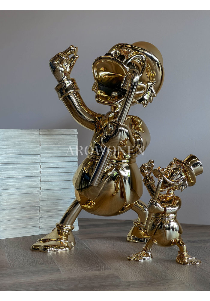 Life-size - Uncle Scrooge - Chromed Gold