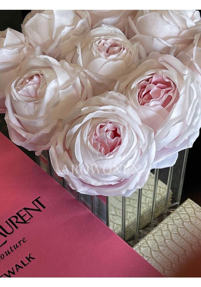 Short Peony Rose - Pandora - Soft pink 30 cm