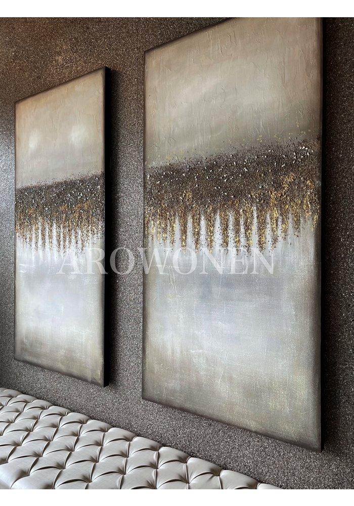 Art Canvas - Golden horizon - 200x100cm