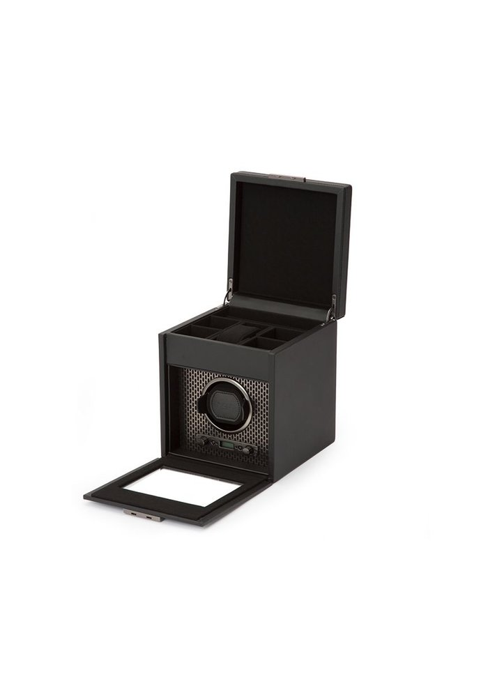 Watch Winder with storage - Blade - Single - Black