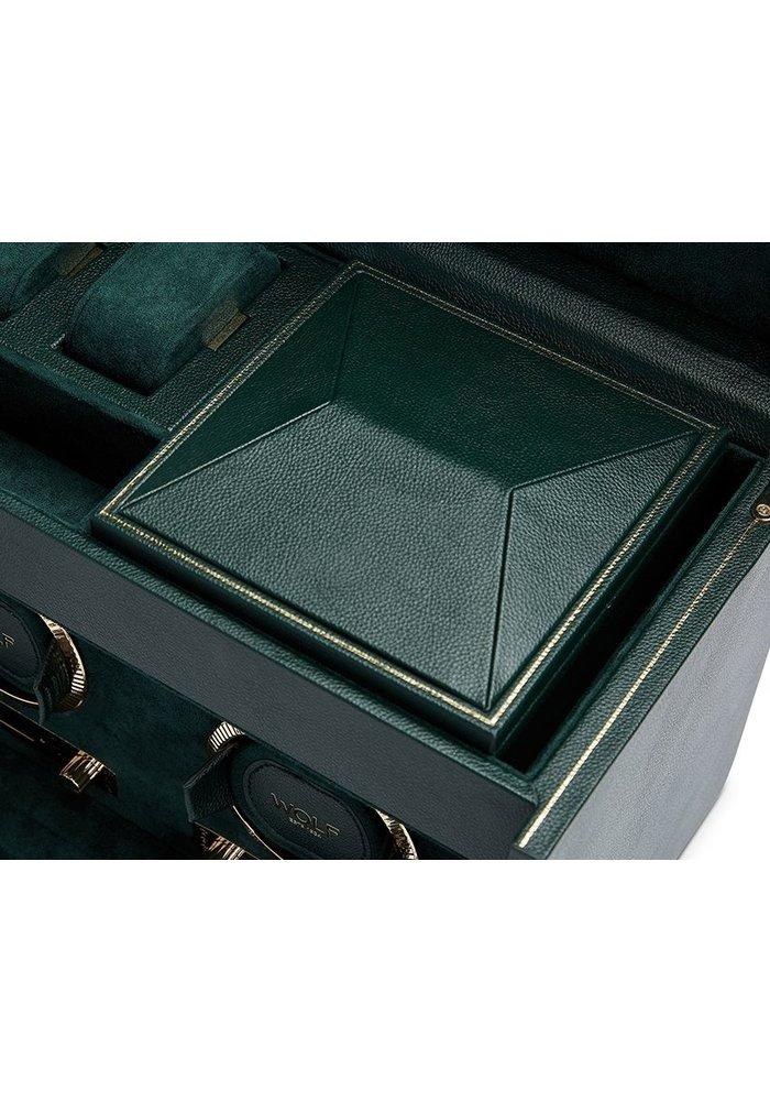 Watch Winder -  Leopold met opbergruimte - Dubbel  - Rolex Groen
