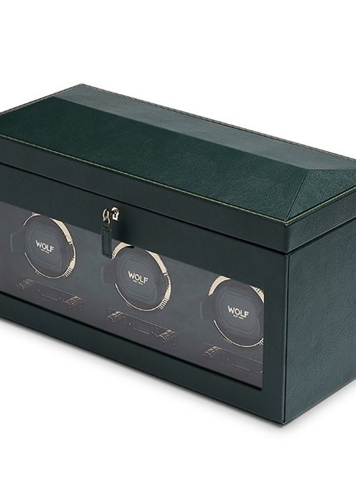 Watch Winder -Leopold - Triple - Rolex Green
