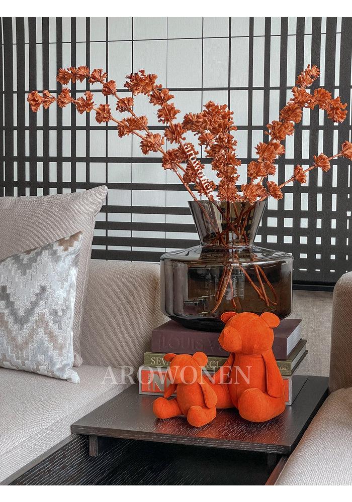 Decoratie Tak - Klokken - Oranje H100 cm