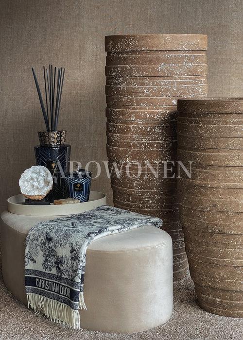 Vase - Blanche - Brown