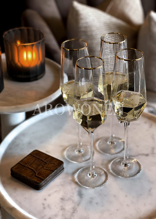 STORE ONLY - Champagne Glass - Good as gold