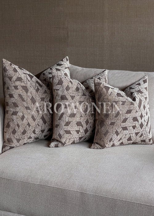 Decorative Cushion - Agnes - Light Brown