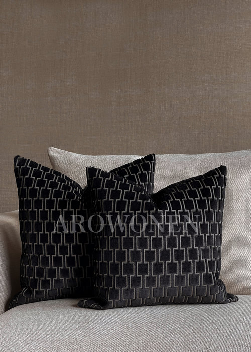 Decorative Cushion - Brooklyn - Jet Black