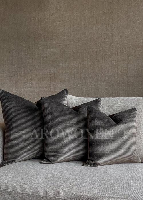 Decorative Cushion - Ribbelyn - Espresso