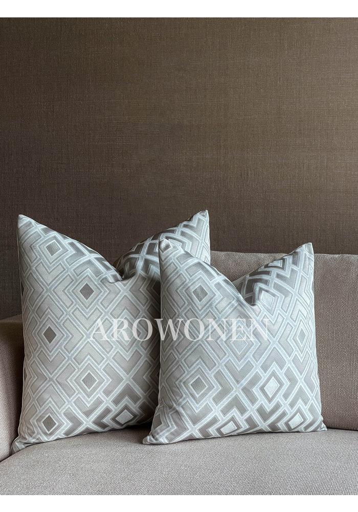 Decorative Cushion - Triangle - Bone White