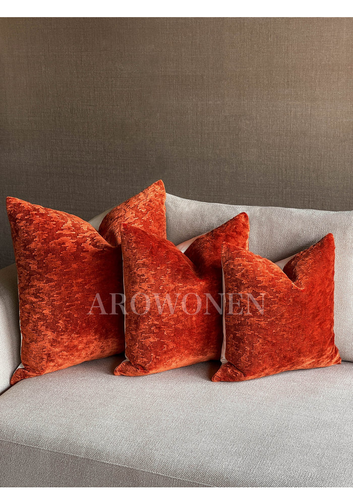 Decorative Cushion - Sketch - Lava Orange