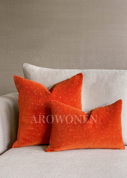 Sierkussen - Meteor - Oranje Burst