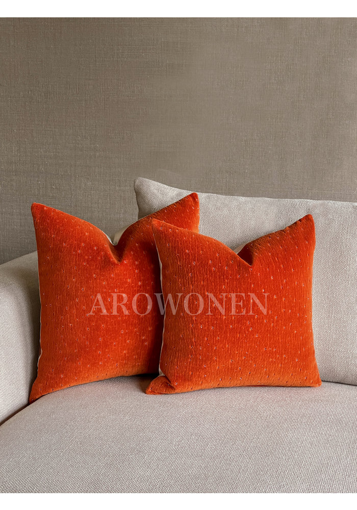 Decorative Cushion - Meteor - Orange Burst