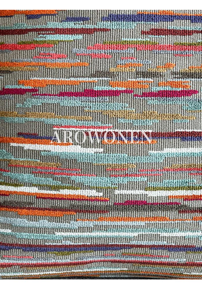 Sierkussen - Jacinda - Multicolor - Beige / Oranje