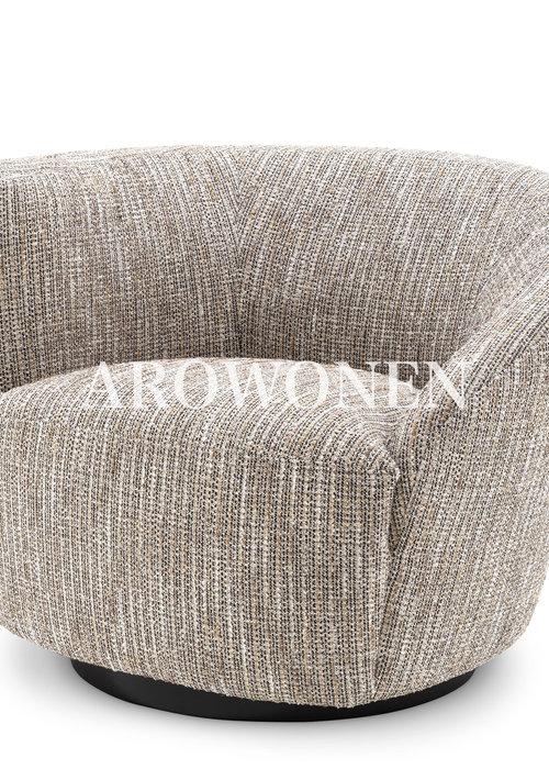 Swivel Chair - Giovanni - Beige