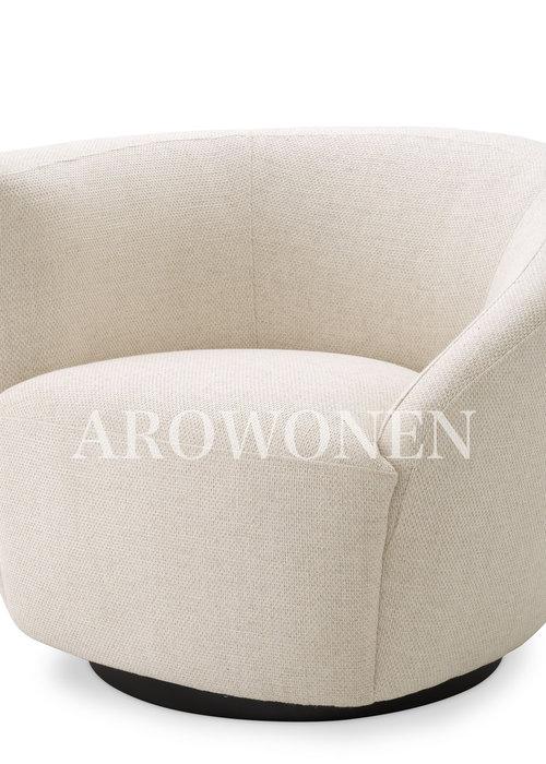 Swivel Chair - Giovanni - Cream
