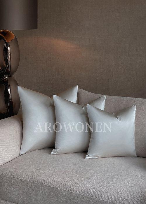 Decorative Cushion - Satin - Pearl