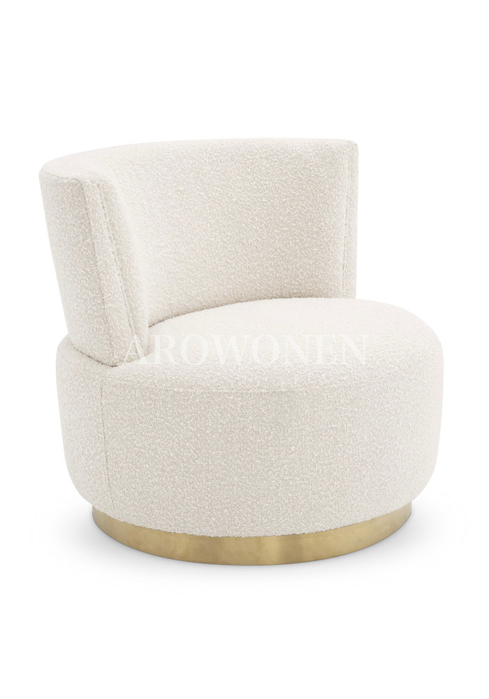 Swivel Chair - Safiya - Cream