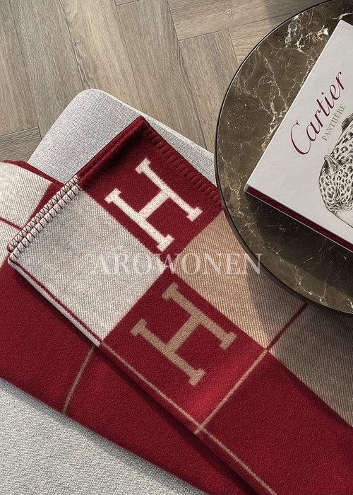 Hermés Plaid - Ecru/Red