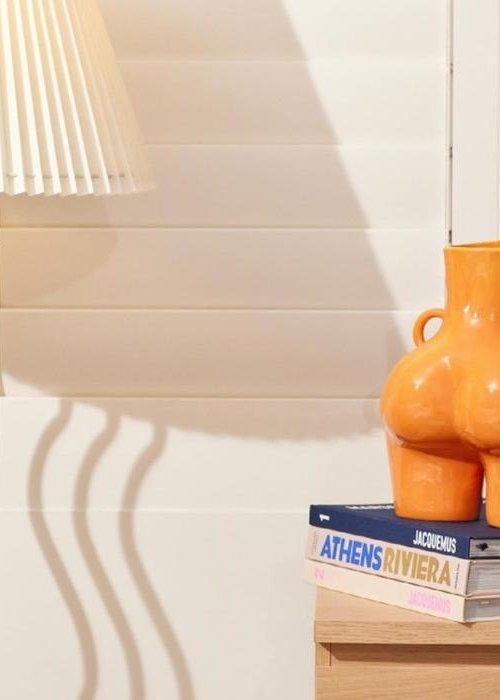 ANISSA KERMICHE Anissa Kermiche - Vase Love Handles - Shiny Orange