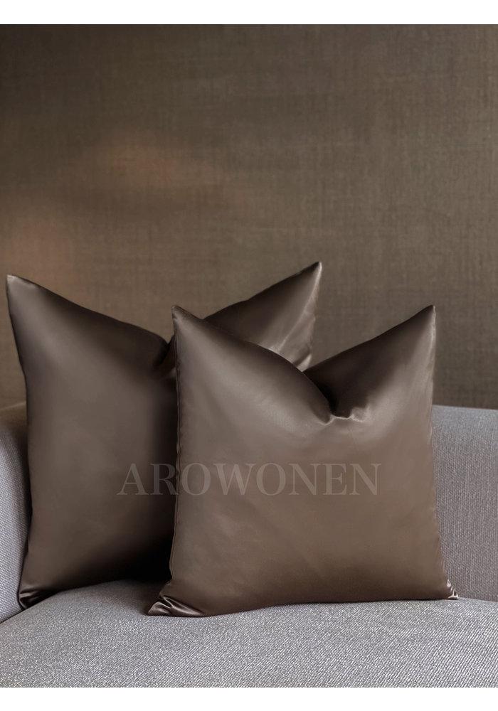 Decorative Cushion - Hester Satin - Shiny Taupe