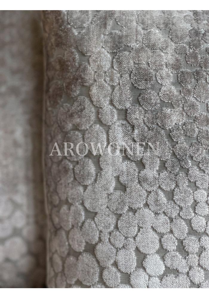 Decorative Cushion - Pearls - Silver Grey