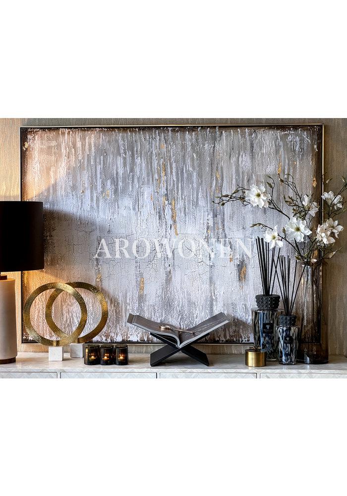 Art Canvas - Layers - Gold/White 180x130cm