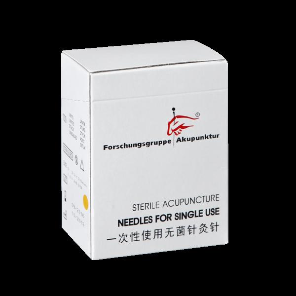 Akupunkturnadel der Forschungsgruppe Akupunktur 0,30x30mm Kupferwendelgriff