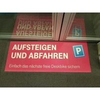 Deskbike Parking space DESKBIKE PARKPLATZ -  MAGNETISCHE PLATTE