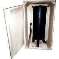 Grill Tube Met RVS Spiezen In Houten Box